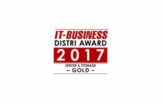 IT-Business Distri Award 2017 Gold (Server & Storage)